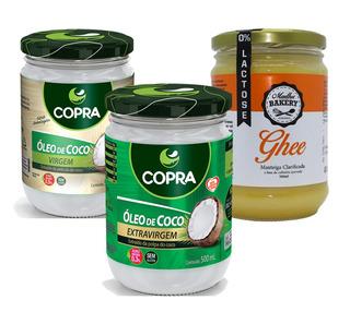 Combo Óleo De Coco Extra-virgem + Virgem + Manteiga Ghee