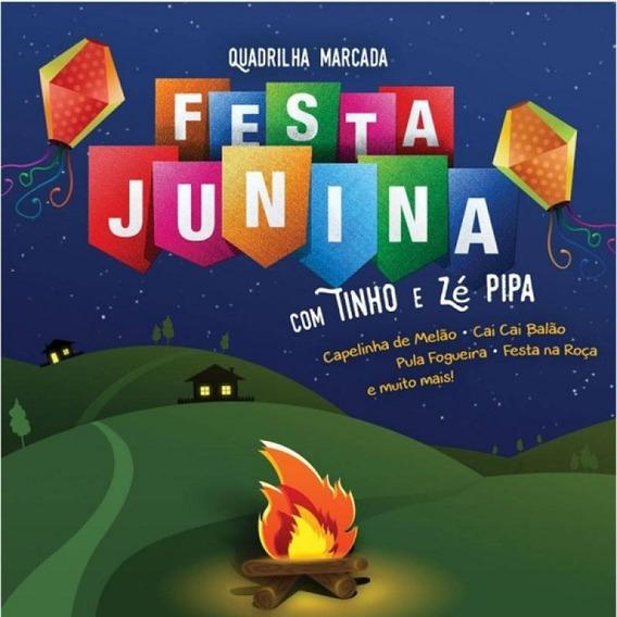 Festa Junina Com Tinho E Zé Pipa - Cd Música Regional