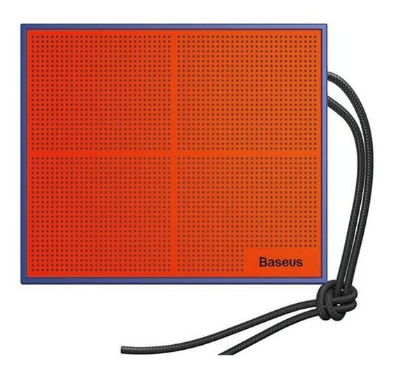 Caixa De Som Bluetooth Baseus Encok E05 Azul / Laranja