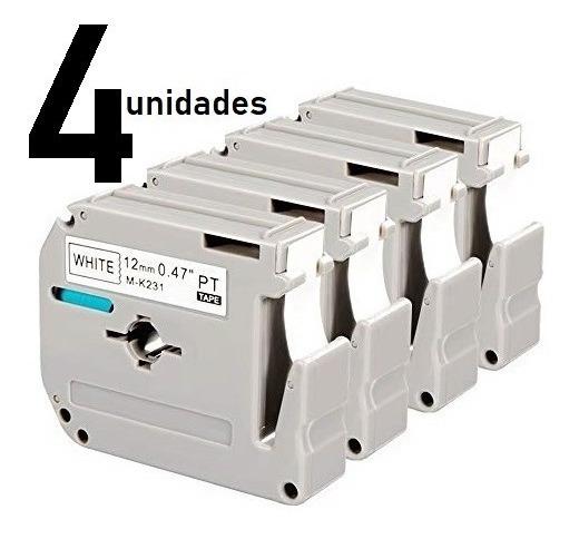4 Fitas Compatível Para Brother Pt-80 Pt80 M-k231 M-231 12mm
