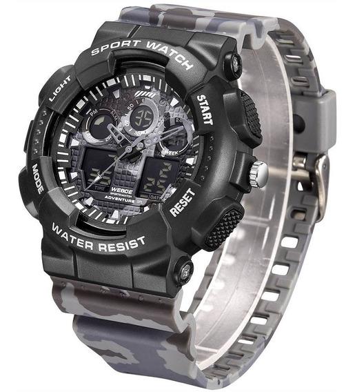 Relógio Masculino Weide Anadigi Wa3j8003 Camuflado