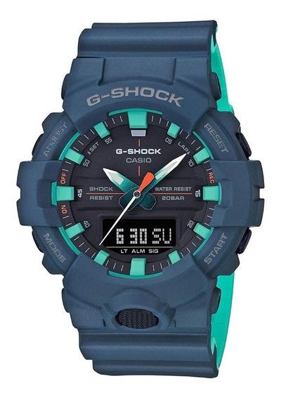Relógio Masculino Casio G-shock Anadigi Ga-800cc-2adr - Azul