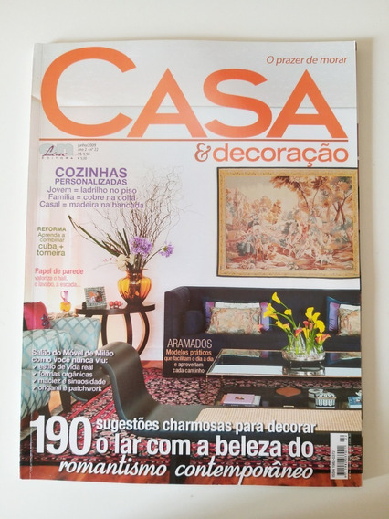 Revista Casa E Decoração Nº 22 De Junho De 2009