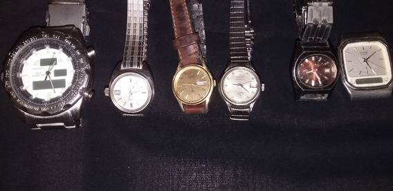 Lote 6 Relógios De Pulso Feminino E Masculino