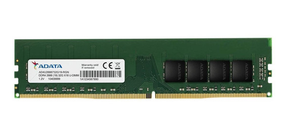 Memória RAM 4GB 1x4GB Adata AD4U2666J4G19-S