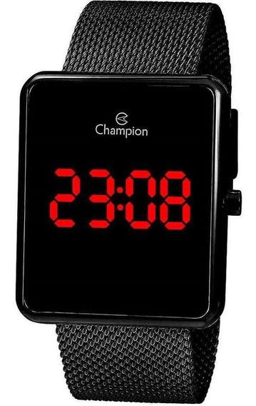 Relógio Feminino Champion Digital Preto Ch40080d + Nf