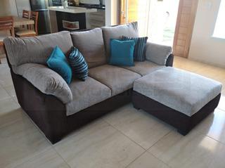 Sofa 3 Cuerpos Chenill Premium Tobago +banqueta Cuotas12/18
