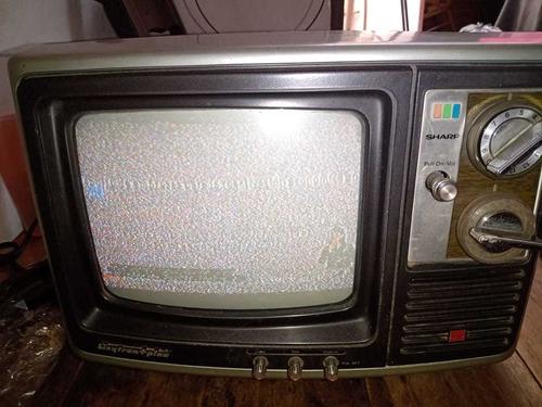 Televisor A Color Antiguo Sharp Funcional De Los 80tas.