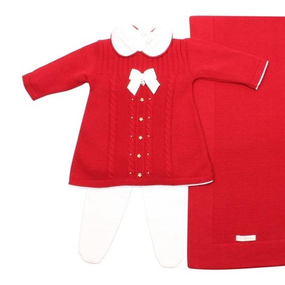 Saída De Maternidade Tranças Star Vermelho Petit Mouton