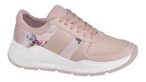 Tenis Sneakers Rosa Plataformas Blanca Suela Chunky F067