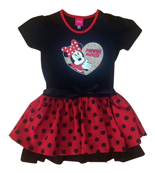 Vestido Fiesta Minnie Mouse Disney Official Para Niña