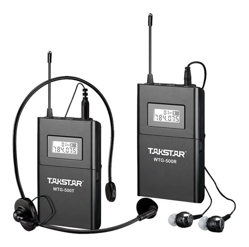 Microfono Inalámbrico Diadema Camara Video Takstar Wtg500