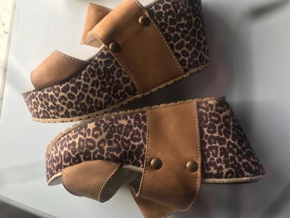 Zapatos Plataforma Mujer Animal Print