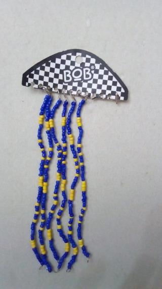 Pulseras De Mostacillas Azul Y Amarillo X 6 Unidades