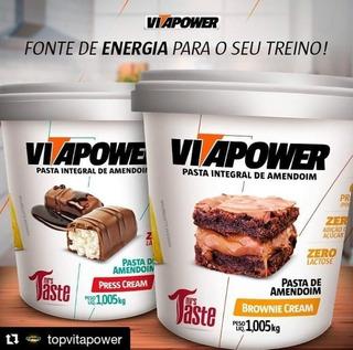Pasta De Amendoim Premium Vitapower 1kg Press Cream