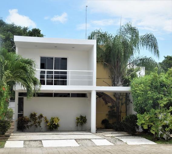 Casa En Pequeño Residencial Entre Villa Magna Y Campestre