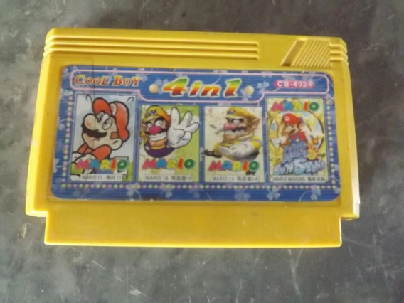 Cartucho De Videogame Snes - Super Mario Bros 4 In 1