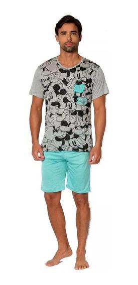 Pijama Hombre Mickey Mouse Disney Pescador Playera 100082