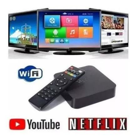 Smartv Tv Box 16gb E 3gb Ram Com Android 8.1 + Teclado Led