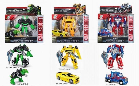 Brinquedo Robô Transformers Vira Carro Caminhão E Dinossauro