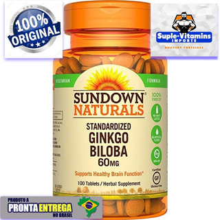Ginko Biloba 60 Mg 100 Comps Original Importado Usa