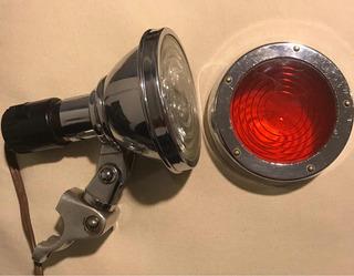 Antigua Lámpara Mapera Y De Emergencia Para Auto Alemán