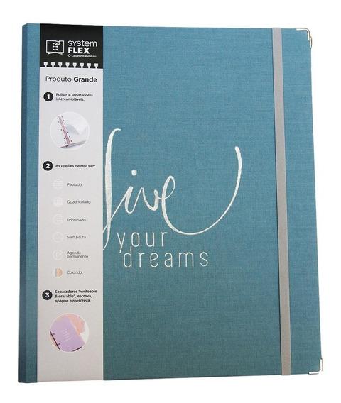 Caderno System Flex Coleção Cotton Azul - Ótima