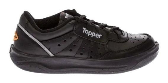 Zapatillas Topper Cuero Negro - Envíos Gratis + Cuotas Sin Interés Sport Evolved