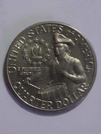 Moneda De Un Cuarto (1/4) De Dolar De Eeuu. De 1776-1976d