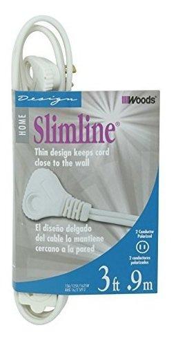Slimline 2235 Cable De Extension De Enchufe Plano, 2 Hilos,