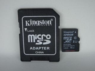 Cartão De Memoria Micro Sd 128gb Kingston Classe 10