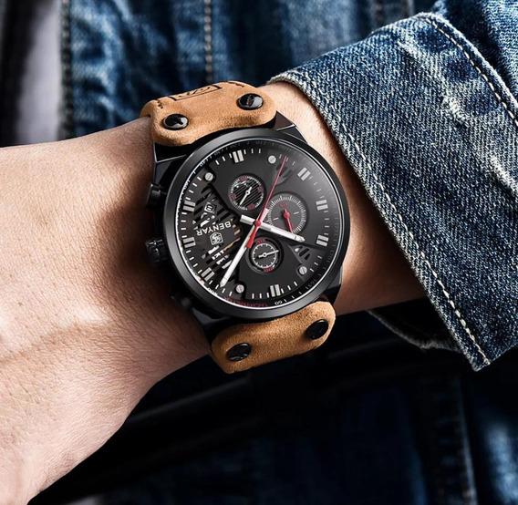 Relógio Luxo Masculino Benyar Pronta Entrega Original + Caixa