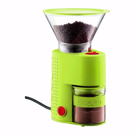 Molino De Cafe Bodum Bistro Electric Burr 14 Settings Verde