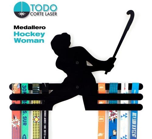 Imagen 1 de 5 de Medallero Hockey Woman-femenino-deportivo