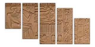 Cuadros Decorativos Faraón Egipcio 150x80 5pz Modernos