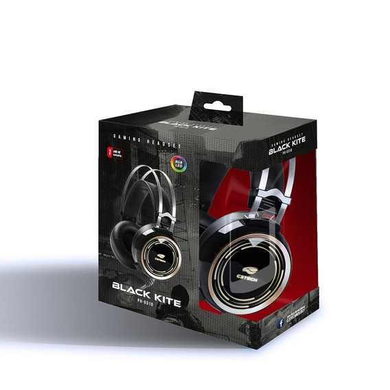 Headset Gamer C3tech Black Kite Ph-g310 12x Sem Juros
