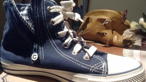 Zapatillas Lona Bota Cheeky (poco Uso) Nº33