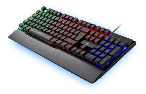 Teclado Gamer Xtech Xtk-510e, Usb, Ingles, Multimedia, Luz