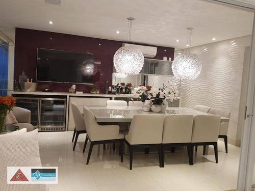Imagem 1 de 30 de Apartamento Com 3 Dormitórios À Venda, 165 M² Por R$ 2.400.000,00 - Jardim Anália Franco - São Paulo/sp - Ap6295