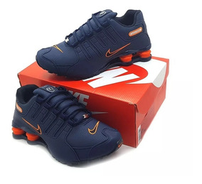 Tênis Nike Nz Masculino E Feminino Foto Original Azul-laranj