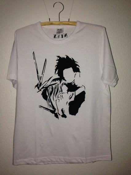 Estampa Edward Mãos De Tesoura - Camiseta/baby Look