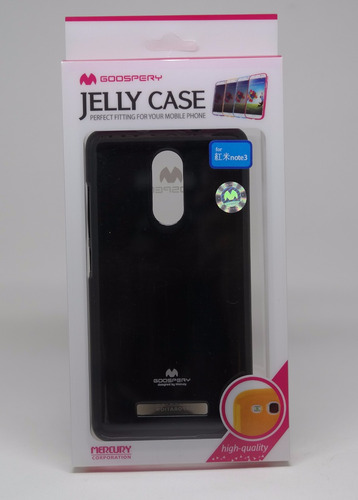 Funda Xiaomi Note3 Mercury Goospery Jelly Case Negro