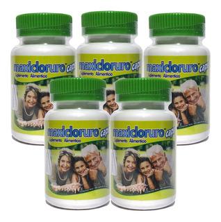 5 Piezas Cloruro De Magnesio 100 Cápsulas De 500 Mg Maxi