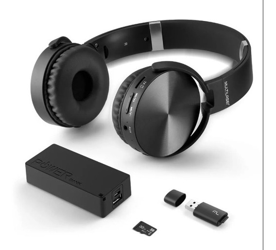 Kit Headphone Bluetooth 4x1 Sd 32 Gb Fm Aux Mc250 Multilaser