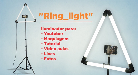 Ring Light Blog Tripé Lançamento Tutorial Vídeo Aula Ao Vivo
