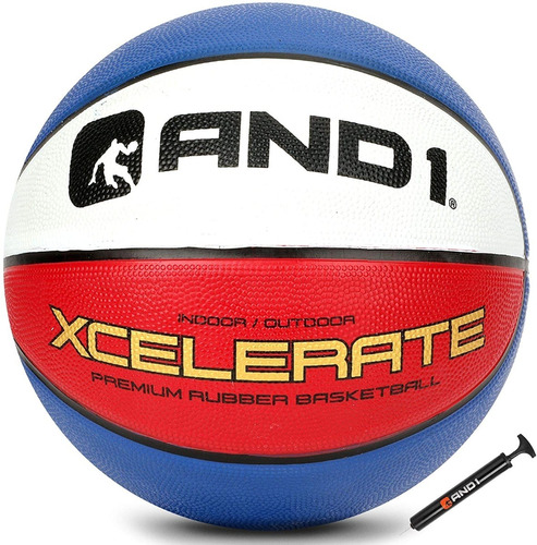 Balón De Basquet And1 Xcelerate Baloncesto # 7 + Inflador