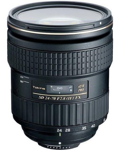 Lente Tokina 24-70mm 2.8 Pro Fx P/ Nikon Com Garantia + Nfe