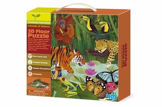 4m Kit Manualidades 3d Puzzle Animales De La Selva Cm678