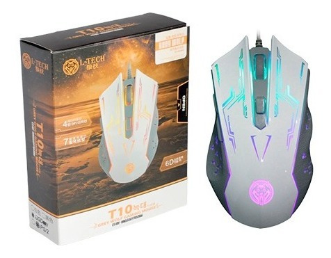 Mouse Gamer L-tech T10 L Grey Wolf