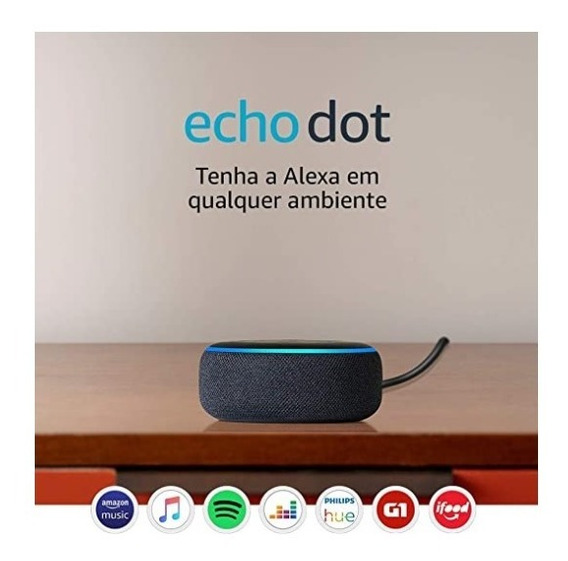 Amazon Echo Dot 3ª Geração Smart Speaker Com Alexa - Preta